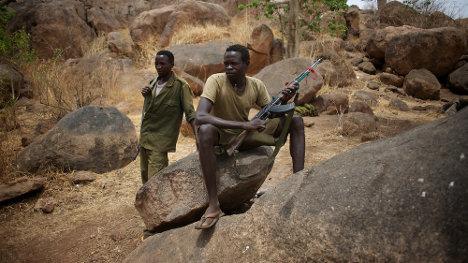 Combatientes del Movimiento de Liberación de Sudán en Kordofán del Sur.