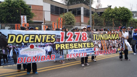 Protesta maestros fecode