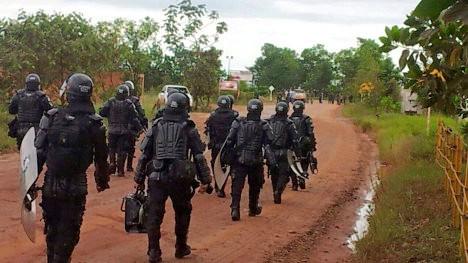 La respuesta del Estado fue la militarización del campo y las vías del municipio. Foto USO.