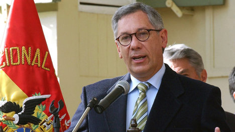 Ex presidente Eduardo Rodríguez Veltzé, negociador boliviano ante La Haya.