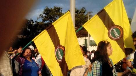 Mienbros de Fensuagro en movilización. Foto Archivo.