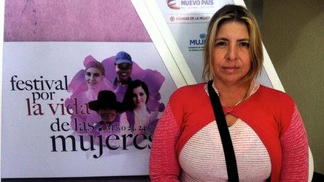 Olga Castillo. Festival por la vida de las mujeres.