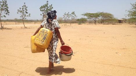La Guajira padece una sed crónica. Foto Defensoría del Pueblo.