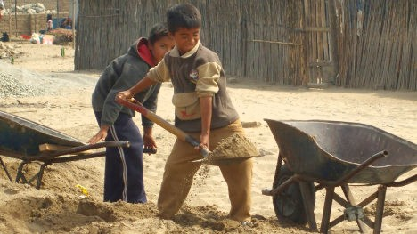 Niños mexicanos trabajando. Foto La Gaceta DF.