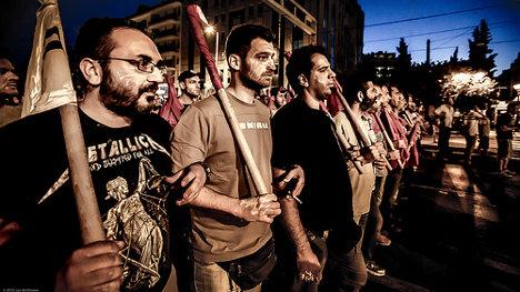Manifestación contra las medidas de austeridad. Atenas (Grecia), 15 de junio de 2015. Foto: Athens July 15 via photopin (license)
