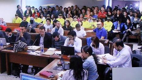 Audiencia de medida de aseguramiento en Ploquemao.
