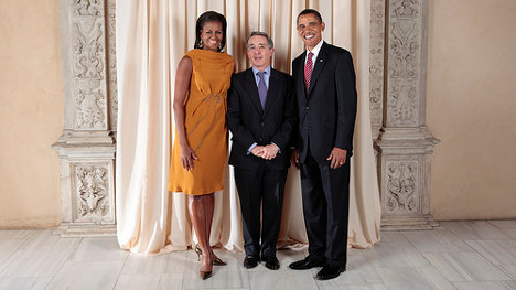 Foto: U.S. President Barack Obama and First Lady Michelle Obama With World Leaders at the Metropolitan Museum in New York via photopin (license)