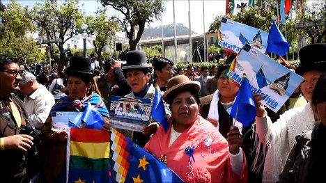 El pueblo boliviano reaccionó con alegría, en manifestaciones callejeras, ante el pronunciamiento de la Corte Internacional de Justicia.