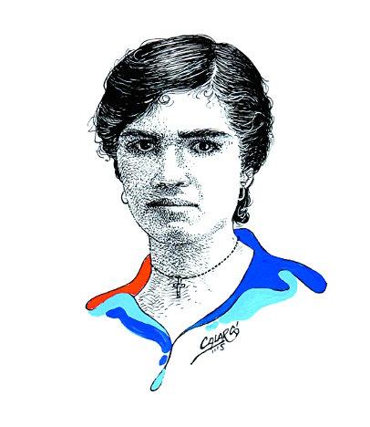 María Betsabé Espinal. Plumilla de Arlés Herrera, Calarcá.