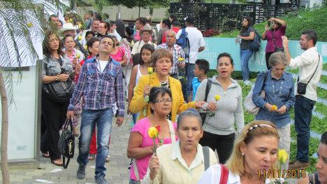 Marcha de las víctimas en Segovia, Antioquia.