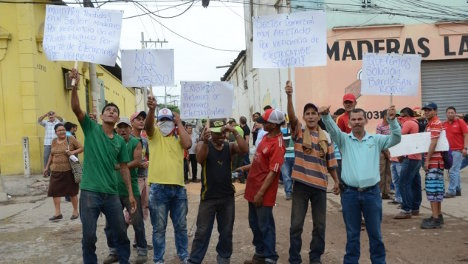 Protestas contra los abusos de Electricaribe.