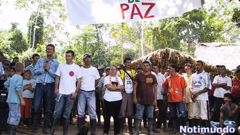 Movilización en el Catatumbo.