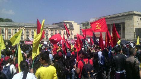 El Partido Comunista y la Unión Patriótica participaron de las movilizaciones en varias ciudades colombianas.