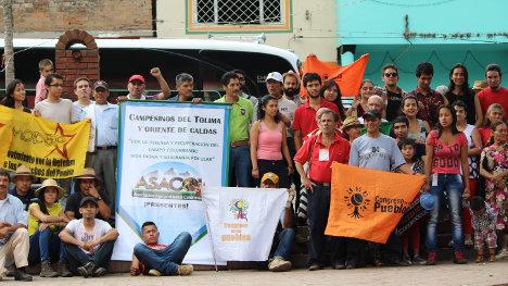 Participantes de la comisión política del Congreso de los Pueblos Tolima – Eje Cafetero. Foto Colombia Informa.