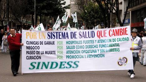 Movilización de trabajadores, usuarios y estudiantes de ciencias de la salud. Foto archivo.