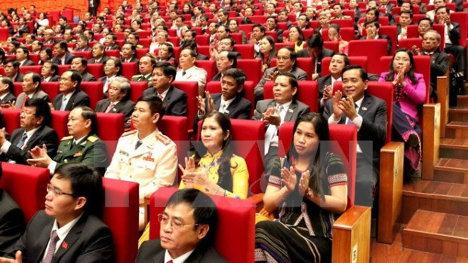 Vista parcial de los delegados al XII Congreso del Partido Comunista de Vietnam, celebrado en Hanoi.