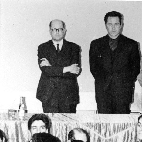 Camilo Torres con Gilberto Vieira secretario general del PCC.