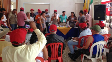 Aspecto de asamblea de la Central Nacional Provivienda