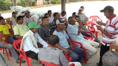 Nelson Sarmiento, presidente de la Cooperativa de Productores Agropecuarios de la Vereda Carranzó
