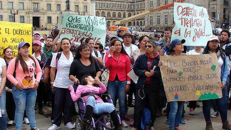 Protesta contra el alcalde Peñalosa. Foto: Camila Ramírez, El Turbión via photopin (license)