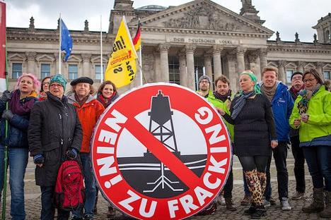 Protesta contra el fracking en Berlín. Foto: Jakob Huber/Campact via photopin (license)