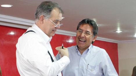 Alejandro Ordóñez y Néstor Humberto Martínez... ¿De qué se ríen?