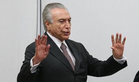 Michel Temer, presidente interino de Brasil.