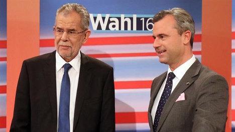 El progresista Alexander Van der Bellen obtuvo el 50,3 por ciento de los votos, frente al 49,7 de Norbert Hofer. Foto: AP