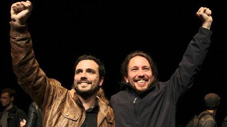 Los líderes de Izquierda Unida, y de Podemos, proponen al pueblo español un modelo no capitalista de desarrollo.