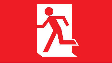 Logo de la campaña de la izquierda contra la Unión Europea, Left Leave.