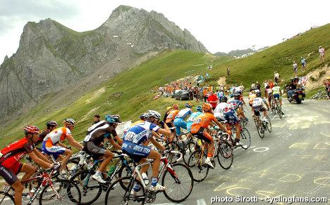 Ciclistas en Tour de Francia-1