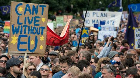 Manifestación anti-Brexit en Londres, la semana pasada.