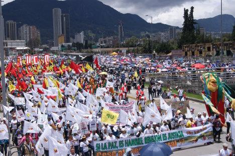 Movilización del 9 de abril de 2015. Foto archivo.