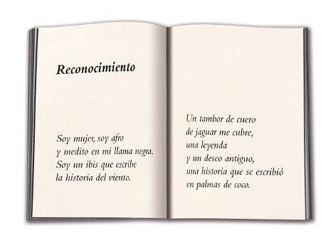 Fragmento de uno de los poemas que hacen parte del libro