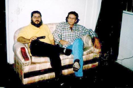Francisco Galán y Carlos Velandia en la cárcel de máxima seguridad de Itagüí (Antioquia), en 1998.