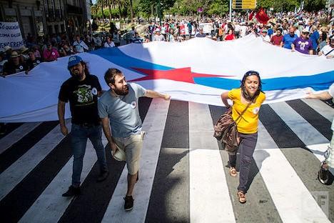 Manifestación nacionalista gallega. Galiza Foto via photopin (license)