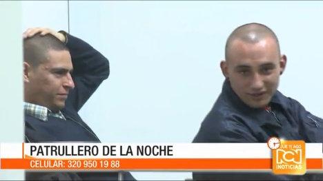 Los agresores presentados por el noticiero RCN.