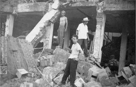 Aspecto de los daños causados por la explosión de Cali.