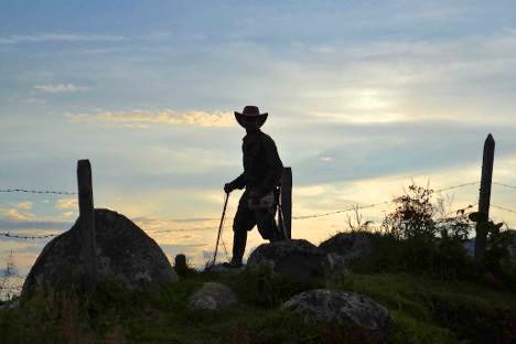 Campesino colombiano. Foto Prensa Rural