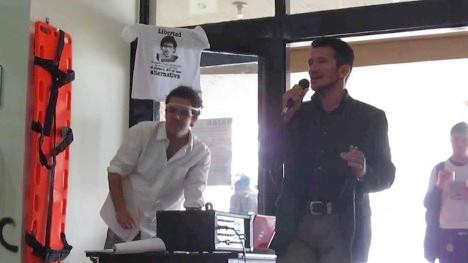 Uldarico Flórez, en un evento de solidaridad con el profesor Miguel Ángel Beltrán. Foto Archivo