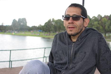 Miguel Ángel Beltrán, disfrutando su tercer día de libertad. Foto Carolina Tejada.