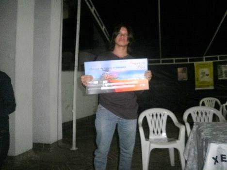 José Sebastián Ticora, estudiante de once del colegio San Simón de Ibagué, Tolima, ganador concurso de cuento. Foto Nelosi.
