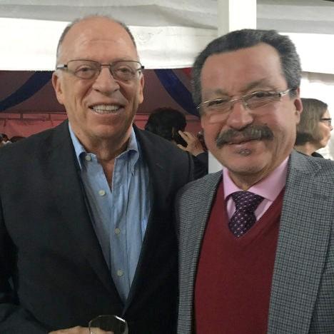 Enrique Santos Calderón y Carlos A. Lozano Guillén, dos protagonistas que contribuyeron para abrir camino a los diálogos de paz. Foto Ramón Jimeno.
