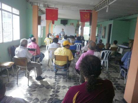 Asamblea municipal de la Unión Patriótica en Ibagué. Foto Nelosi.