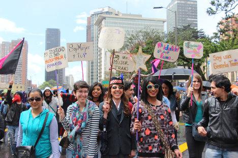 Marcha de la diversidad en Bogotá. Foto Carolina Tejada.
