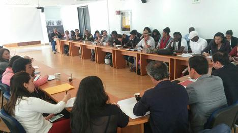 Reunión de Cumbre Agraria el 20 de octubre pasado. Foto Verónica Luna.