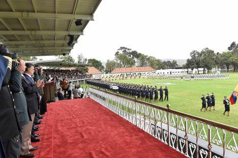 Aspecto de ceremonia militar. Foto Presidencia.