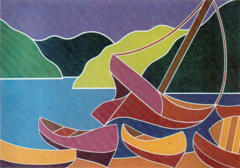 Taganguilla, Serigrafía, 1983. Hernando del Villar.