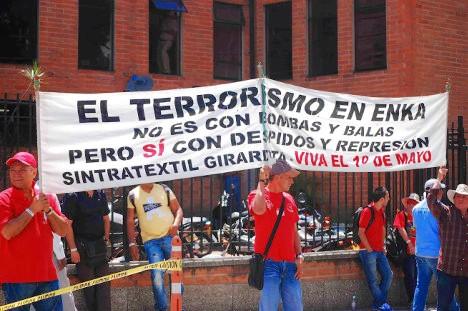 Manifestación de protesta de trabajadores de Enka.