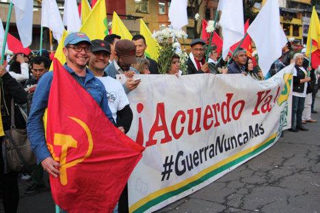 Marcha por la paz. Foto Carolina Tejada.